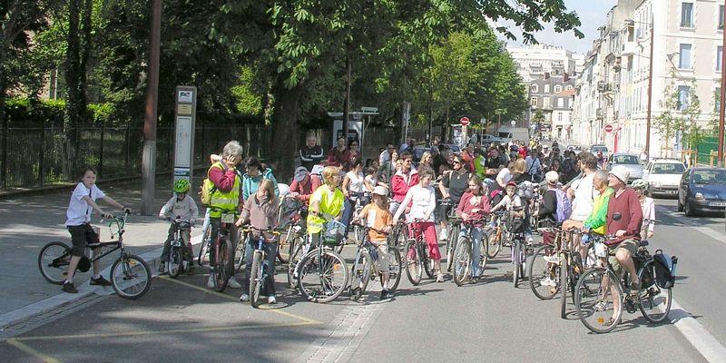 Lors de la Fête du Vélo à Pau