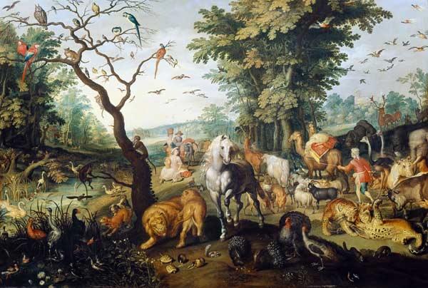 """""""L'Entrée dans l'Arche de Noé"""" : le tableau de Jan Brueghel l'Ancien est l'un des fleurons de l'exposition """"Animal"""""""